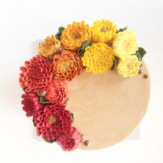buttercream flower diy A lovely Autumn  Tea