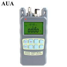 All-in-one Fibra medidor de potencia óptica-70 a + $ number dbm y 1 mw 5 km de Cable de Fibra Óptica Visual Fault Locator Tester