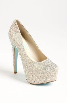 Blue by Betsey Johnson. These are a much cheaper version of the Christian Louboutins i wanted for my wedding day!!