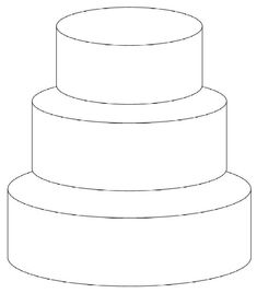 off-set front view - requested by freddyfl 6 8 10 inch tiers 4 Tier Wedding Cake, Square Wedding Cakes, Square Cakes, Elegant Wedding Cakes, Wedding Cake Designs, Funny Birthday Cakes, Cute Happy Birthday, Pink Birthday Cakes, Cake Sketch