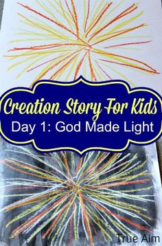 Explore light, God's amazing Day 1 creation, with these STEAM ideas for kids by True Aim. Make light using various simple science experiments and talk about the scientific processes behind what the kids observe. Use the science experiment free printable for kids to record the scientific process they follow to explore light. On the free printable science lab sheet they will record their experiment, materials, hypothesis, observations, and findings. Creation Bible Crafts, Creation Activities, Bible Crafts For Kids, Preschool Bible, Bible Activities, Bible Stories For Kids, Church Activities, Preschool Ideas, Teaching Ideas