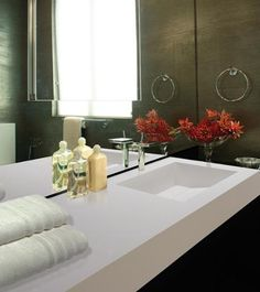 MTI's Wymara Counter-Sink 1 bowl can be seamlessly integrated in a counter #MTI #Sink #bathroom