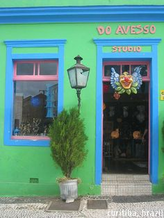 Brazil, Curitiba~ great colors on this shop~ photo by Vueltaa, via Flickr