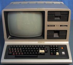 Radio Shack TRS 80 Level III 48K RAM Computer System with Dual Disk Drives.