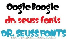 Free Dr Seuss fonts