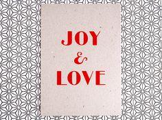 Christmascard // Handprinted Silkscreen