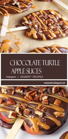 Chocolate Turtle Apple Slices are thick slices of Fuji apples covered in melted chocolate, drizzled with caramel and topped with nuts. Apple Recipes, Gourmet Recipes, Sweet Recipes, Dessert Recipes, Caramel Apple Slices, Caramel Apples, Fuji, Chocolate Covered Apples, Recipes