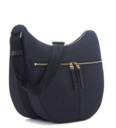 dcdf56bf3f6215 Borsa a tracolla Borbonese Luna Bag Medium in nylon OP nero: Amazon.it: