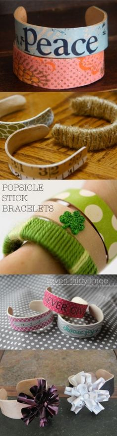 Easy DIY Popsicle Bracelets by TheFrugalFemale