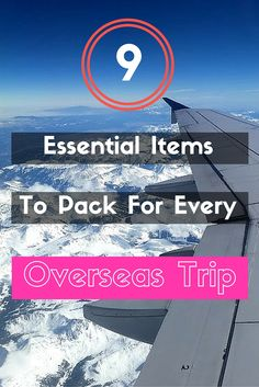 9 items you never knew you  needed for an overseas trip!
