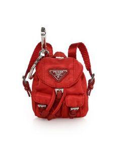 Prada - Vela Backpack Keychain