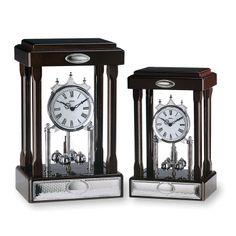 Italsilver: regalos para boda, bautizo y comuniones en plata: Conjunto de relojes para sobremesa, en madera y plata.