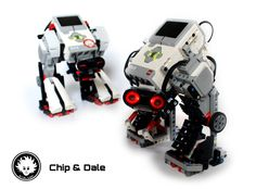 Chip and Dale are twin LEGO MINDSTORMS EV3 mecha. They can walk, play with you, and even track objects. Enter now to discover them about these robots!
