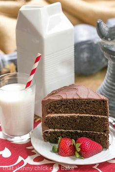 Triple Layer Chocolate Cake With Vanilla Buttercream #Triple #Layer #Chocolate #Cake #Vanilla #Buttercream#Frosting #Recipe #recipes #desserts