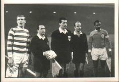 Celtic - Benfica (1969); Billy McNeill, referee Concetto Lo Bello and Mário Coluna.