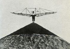 Otto Lilienthal man made hill for test flight
