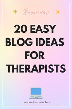 Obviously, therapy is a very personal experience. And your blog isn't going to be able to provide the care that regular one on one sessions will. But that doesn't mean that a blog is useless for therapists. Mental health is so highly stigmatized–we don't let people talk about it! Your blog can be a place to normalize discussing mental health, give wellness tips, explain the approach you use in your practice, etc.