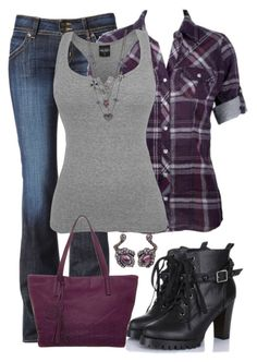 """Tank and Boots"" by jennifernoriega ❤ liked on Polyvore featuring Hudson Jeans, Anna Field, Betsey Johnson and Arunashi"