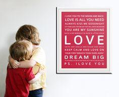 Nursery art print. Baby nursery decor. Art for children typography art for kids. Nursery wall quotes. Nursery quotes.11x14 Cliche print. $22.00, via Etsy.