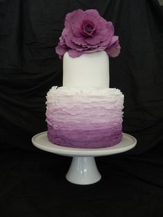 Tiered Purple Ombre Cake
