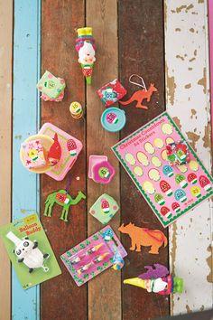 Countdown Christmas mushroom stickers - 24 pink- Rice Dk