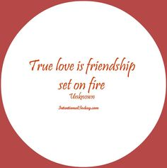True love is a friendship on fire! (Check out 101 other quotes for marriage)