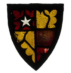 Panel with Heraldic Shield, 14th century, British, Stained glass -- [Arms] Hugh de Vere, brother of Robert de Vere, Earl of Oxford, 1299-1301 and at intervals, 1st half of XIVc.