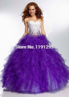 purple+quinceanera+shoes | ... Purple Ice Blue Organza Ruffle Puffy Ball Gown Quinceanera Dresses