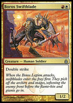 Boros Swiftblade ($.32) Price History from major stores - Ravnica - MTGPrice.com Values for Ebay, Amazon and hobby stores!