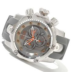 620-263 - Invicta Reserve Men's Venom Swiss Made Quartz Chronograph Leather Strap Watch