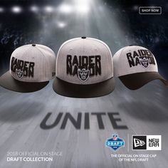 4a0fe941700 Let s Go Raiders! Get ready for the draft with the New Era 2018 NFL Draft
