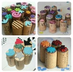 adventures_in_teaching_art Thank you for showing me how to up upcycle my ridiculous amount of wine corks. I'll spend the weekend making these little bad boys for stamping on Tuesday. Kids Crafts, Diy And Crafts, Arts And Crafts, Cork Crafts, Paper Crafts, Homemade Stamps, Toddler Activities, Diy Art, Diy For Kids