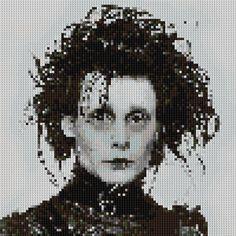 Edward Scissorhands portrait counted Cross Stitch by shelleyfaye, $4.99