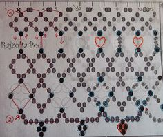 Pöttyök és szívek by Poe Diy Necklace Patterns, Jewelry Patterns, Beading Patterns, Diy Jewelry, Beaded Jewelry, Jewelry Making, Show Me The Way, Right Angle Weave, Earring Tutorial