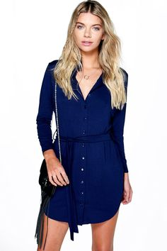 Catalina Button Through Collar Shirt Dress