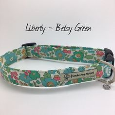 Liberty Dog Collar Betsy Sage Floral Dog Collar   Etsy Lawn Fabric, Cotton Fabric, Small Puppies, Order Photos, Dog Bandana, Dog Design, Fabric Patterns, Sage, Liberty
