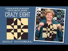 Make a Disappearing Hourglass Crazy Eight Quilt with Jenny Doan of Missouri Star (Video Tutorial) Missouri Star Quilt Tutorials, Quilting Tutorials, Quilting Designs, Msqc Tutorials, Quilting Ideas, Crazy Quilting, Quilting Fabric, Jenny Doan Tutorials, Layer Cake Quilts