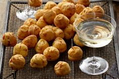 Prosciutto and cheese puffs. These golden brown puffs by Curtis Stone will be gobbled up by your guests in no time at all. Christmas Nibbles, Christmas Finger Foods, One Bite Appetizers, Appetizer Recipes, Coles Recipe, Cheese Puffs, Cheddar Cheese, Thing 1, Savory Snacks