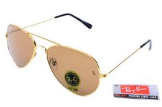 New Ray-Ban Aviator 3025 Gold Frame Brown  $27.30 : Ray-Ban® And Oakley® Sunglasses Online Store