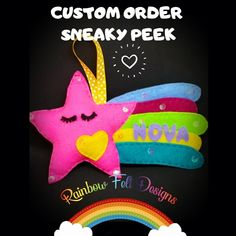 Felt Gifts, Handmade Items, Handmade Gifts, Facebook Sign Up, Small Businesses, Dinosaur Stuffed Animal, Rainbow, Colours, Messages