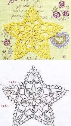 (notitle) Learn the basics of how to needlecraft (generic term), starting at the very first. Crochet Snowflake Pattern, Crochet Motif Patterns, Crochet Stars, Christmas Crochet Patterns, Holiday Crochet, Crochet Snowflakes, Crochet Diagram, Crochet Ornaments, Crochet Flowers