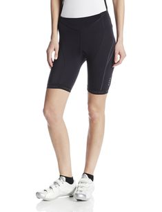 GORE BIKE WEAR Women's OXYGEN LADY Tights short+, size XS, black. Lightweight, highly functional sporty racing tights with anatomically designed padded insert for the long distance cyclist. OXYGEN WOMEN seat pad - ultra high density, supports pelvic rotation, elastic, antibacterial, ventilated, quick drying, breathable. Tight fit; abrasion resistant fabric at inside leg and saddle area, side mesh pockets, gripper elastic on hem. Safety conscious reflective piping at back of legs…