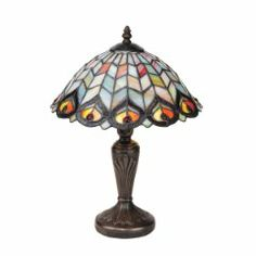 Shop for Design Toscano Tiffany-style Peacock Stained Glass Lamp. Get free delivery On EVERYTHING* Overstock - Your Online Lamps & Lamp Shades Store! Art Nouveau, Feather Lamp, Stained Glass Table Lamps, Tiffany Table Lamps, Lamp Sets, Ebay, Peacock Feathers, Home Decor, Style