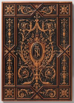 Book or album cover Maker: Henry-Auguste Fourdinois (French, 1830–1907) Date: 1875 Culture: French, Paris Medium: Ebony and boxwood, pear and other fruitwoods