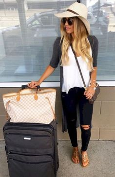 65 airport outfit ideas: the pieces you need to travel summer vegas outfit, Summer Vegas Outfit, Travel Outfit Summer, Airport Outfit Spring, Las Vegas Outfits, Vegas Dresses, Airport Outfits, Cute Airport Outfit, Casual Travel Outfit, Cancun Outfits