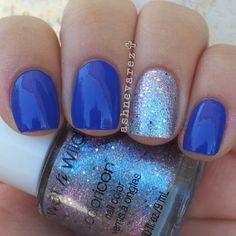 Azul francia y detalle en plateado+glitter