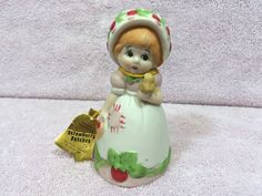 Vintage Bisque Porcelain Figural Bell Strawberry by AdoptAKeepsake