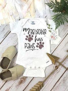 My Big Brother Has Paws Pregnancy Announcement Dog Shirt #pregnancyannouncementshirts,