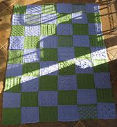 All profits from pattern sales will be donated to the Food Bank of Northern Indiana. This sampler afghan is composed of 54 mystery blocks with each block having a different stitch pattern. No sewing required! Blocks are knit in strips and strips are joined-as-you-go. The pattern is 30 pages long. This was a monthly project for the Holiday Mystery Group in 2012.
