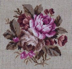 Cross Stitch Rose, Cross Stitch Flowers, Cross Stitch Kits, Cross Stitch Patterns, Hand Embroidery Patterns, Embroidery Designs, Cross Stitching, Cross Stitch Embroidery, Vintage Cross Stitches